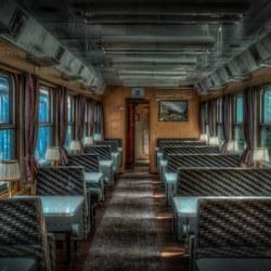 Oude treinwagon