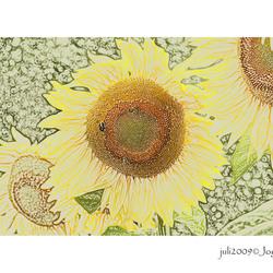 zonnebloemen a la van Gogh