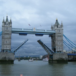 London Tower Bridge open