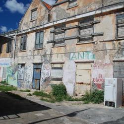 wijkje in Curaçao
