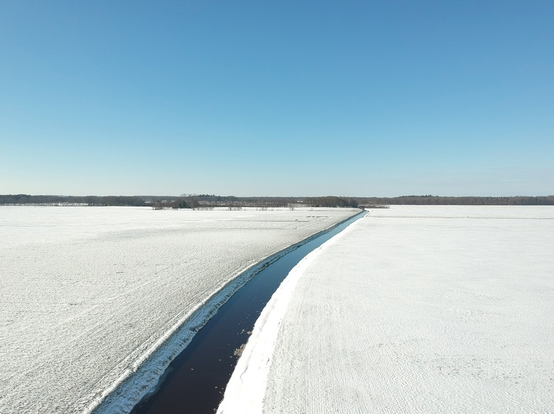 Sneeuw - Fort - Sneeuwlandschap met mijn drone gefotografeerd