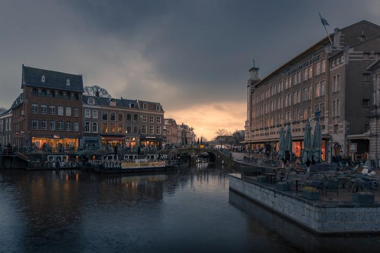 Leiden in de regen
