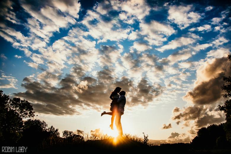 Liefde bij zonsondergang - Na regen komt zonneschijn, en dat was deze keer letterlijk. Na een enorme bui volgde dit schouwspel waarna we ons snel naar