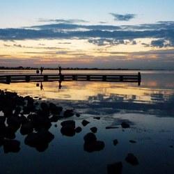 Net na de zonsondergang....