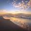 Zonsondergang aan het Noordzeestrand van Vlieland