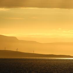 Avondlucht aan de Noorse kust