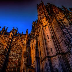 Impressive St. John's Cathedral at night