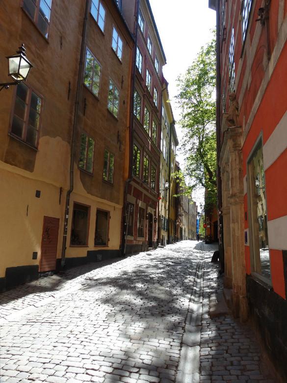 straatje in Gamla Stan - Straatje in Gamla Stan, het oude gedeelte van Stockholm.