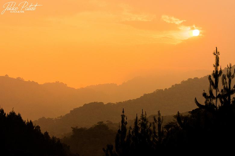 The End of the Day - In het regenwoud van Uganda valt langzaam de nacht. De zon valt, maar de damp van de regen komt omhoog. Een mistig en toch kleurr