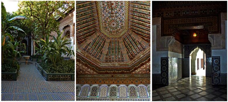 """La Bahia - Bahia Palace in Marrakech is een paleis met tuinen uit eind 19e Eeuw. Toen gebouwd als het grootste paleis. Bahia """"De prachtige"""" is van vlo"""