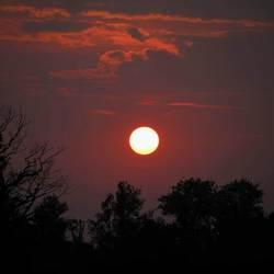 Zonsondergang in september..