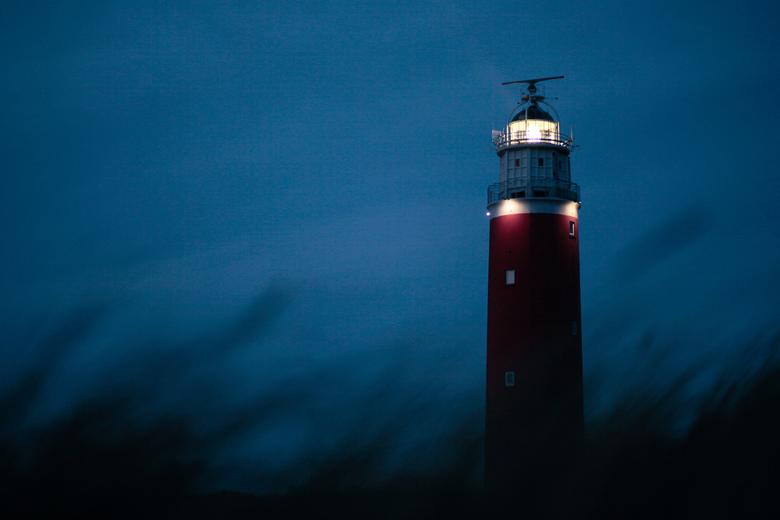 Vuurtoren Texel Cocksdorp - Vuurtoren Texel Cocksdorp in avondlicht