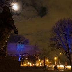 Dokwerker bij avond