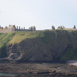 ruïnes van het Dunnottar Castle