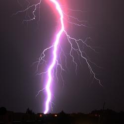 bliksem boven Nederland