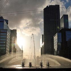 Hofplein fontein in Rotterdam