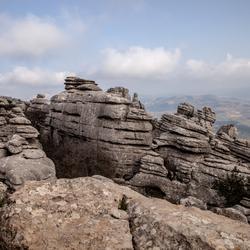 Rotsformatie natuurgebied Spanje