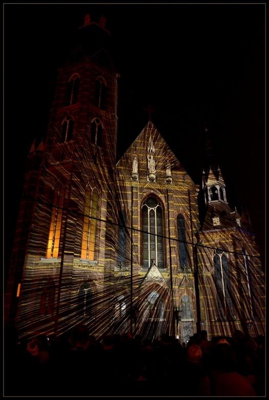 Augustijnenkerk - Gisteravond genomen tijdens Glow, lichtevenement in Eindhoven.