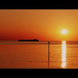 Ondergaande zon bij het Ketelmeer