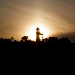 Zonsondergang vuurtoren Vlieland