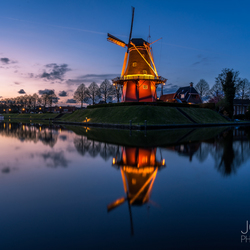 Blue hour in Dokkum