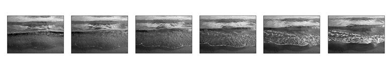 Sequentie golf - Een sequentie van een golf. Ik heb de volgorde van  foto's omgedraaid. Hiermee heb ik de tijd teruggedraaid.