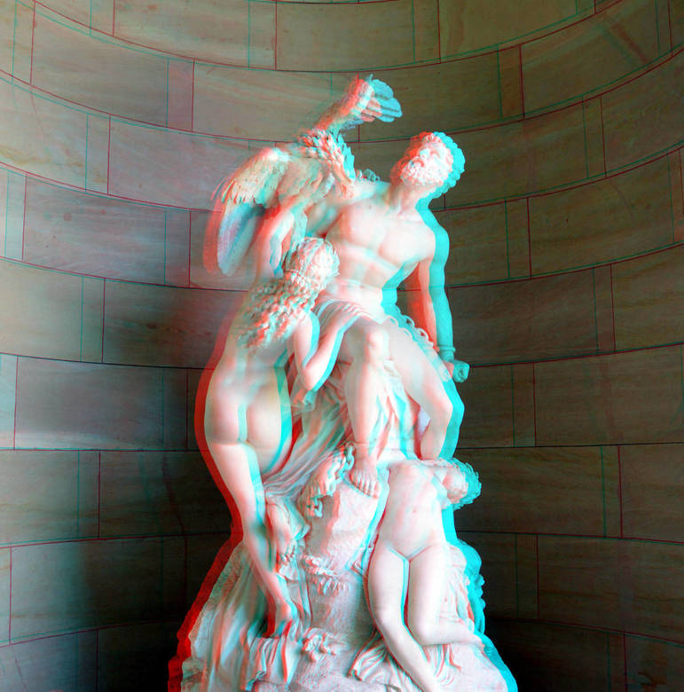 Prometheus Bound and the Oceanids by  Eduard Müller 3D - Prometheus Bound and the Oceanids by  Eduard Müller 3D<br /> Berlin Alte