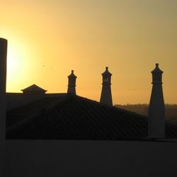 Zonsondergang in Portugal