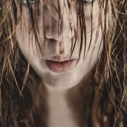 Wet look selfportrait