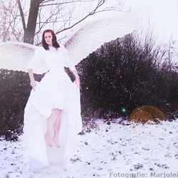 Snow angel rising.