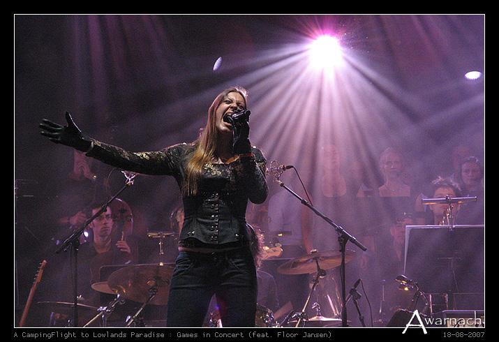 [Lowlands] Games in Concert - Games in Concert feat. Floor Jansen (After Forever)<br /> Lowlands Festival 2007<br /> (18-8-2007)