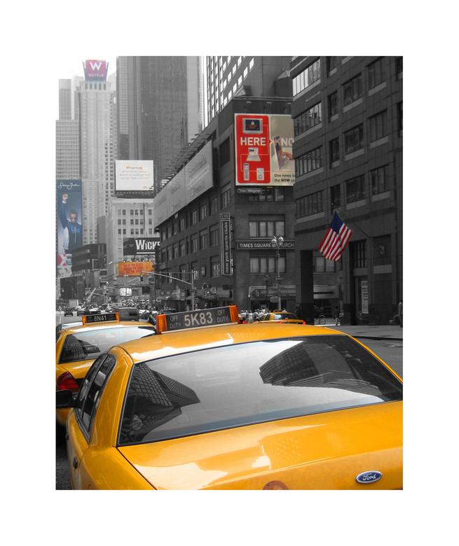 Times Square NYC - Dit is er één uit het archief uit 2006, ik ben een beetje aan het kleuren geweest, het resultaat vind ik wel leuk. Het was op zich