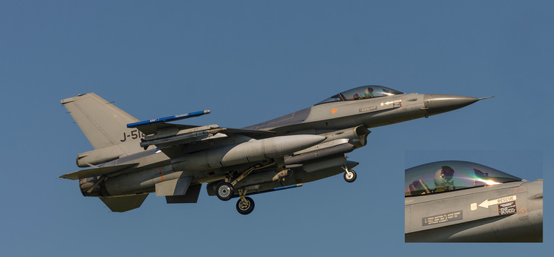 19W_3548CCN+detail J-512 - F16 tijdens NAVO oefeniing Frisian Flag