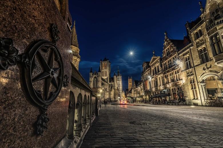 De drie kerken van Gent