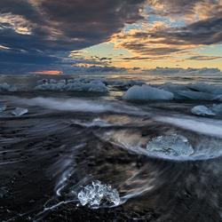 Ijsstrand bij Jokulsarlon, Ijsland