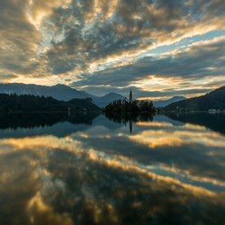 Reflections on lake Bled