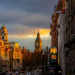 zonsondergang in London