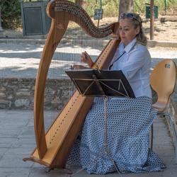 Vrouw met harp