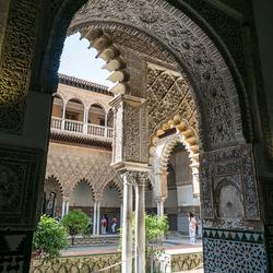 Sevilla, Real Alcazar, doorkijkje