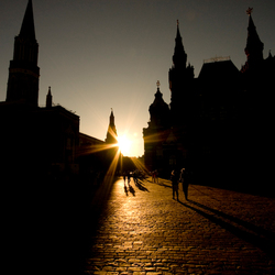 Twilight at red square