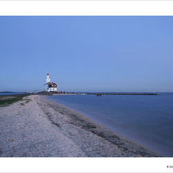 Sunset lighthouse Marken 2
