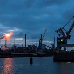 IJmuiden, vroeg in de ochtend