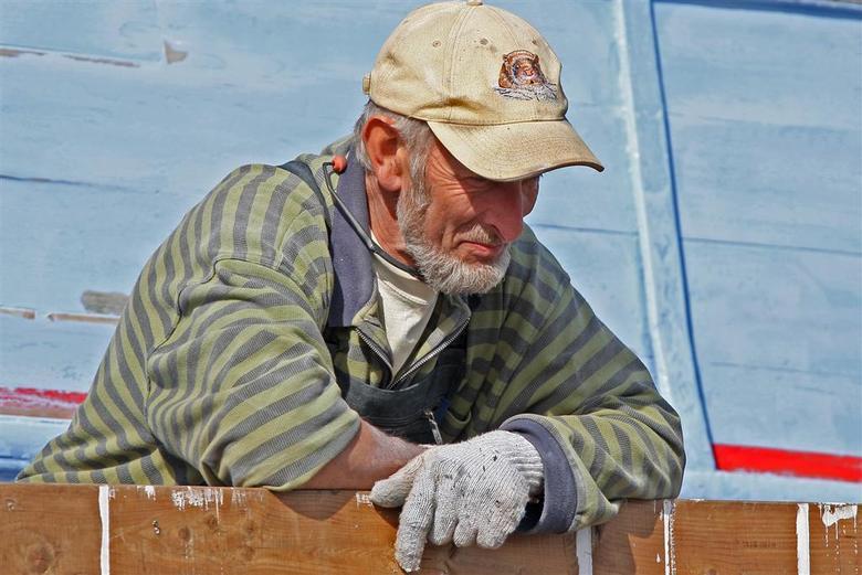 schilderende schipper