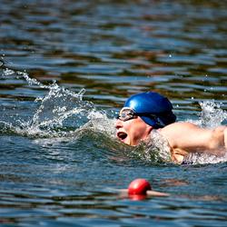 Zwemmer bij de Triathlon Oldenzaal
