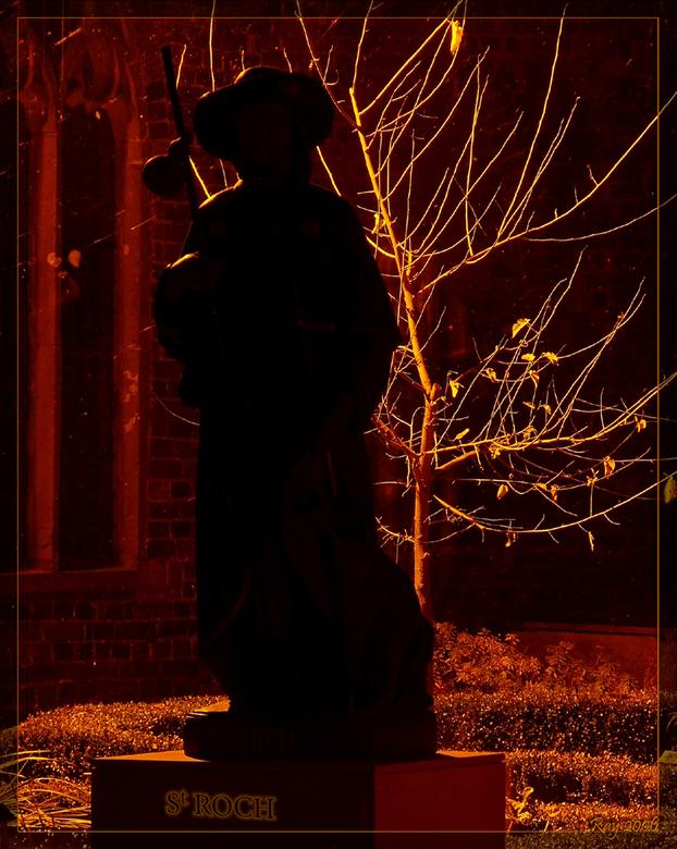 St ROCH - Tijdens sessie met medezoomer Erik Wieringh bij het klooster te Ter-Apel, deze opstelling  ingezoomd genomen aan de achterkant van het kloos