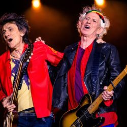Ronnie Wood and Keith Richards