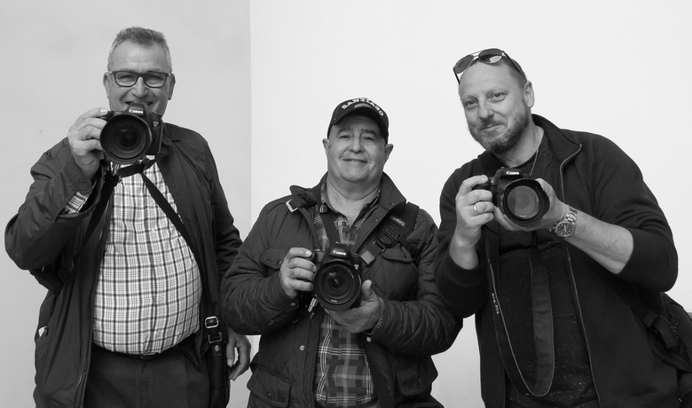 De 3 van Marrakech - Met rechts vriend Ron Haak (https://almere01.zoom.nl/fotos/index.html) met wie ik voor de 12e keer op stedentrip was.<br /> Foto