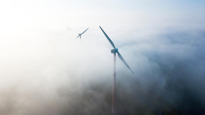 Mist boven Flevoland