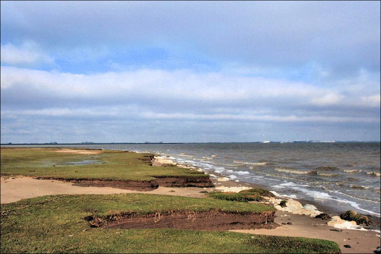 De Dollard kust - Vanmiddag een fietstocht o.a langs de kust van de Dollard