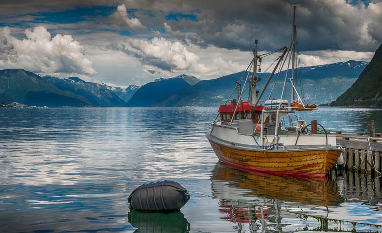 CWM_3825flt - Boat in fjord in norway